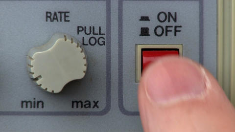 Power button turn on/off; signal generator Footage