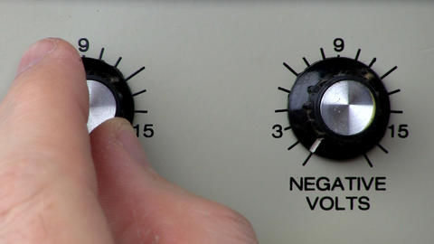 Knob turn; power supply positive volts increase Footage