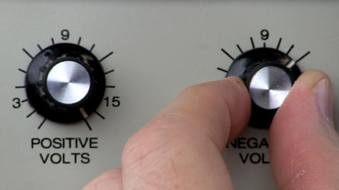 Knob turn; power supply negative volts decrease Footage