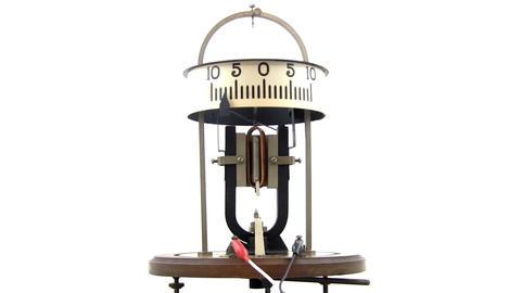 Vintage physics lab galvanometer Footage