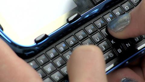 Teenage girl texting Footage