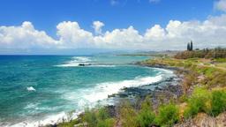 Molokai Beach overlook in Hawaii Footage