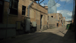Back Alley of City Footage