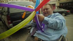 Time Lapse of Balloon Artist Footage