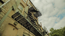 Fire Escape Stairs Footage