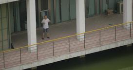 4K Chinese Man Exercising Footage