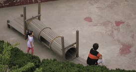 4K Young Girl Plays on Playground Footage