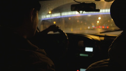 Slow Motion Taxi in China Archivo