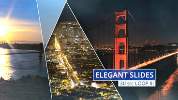 Elegant Slides 30s Loop III - Apple Motion and Final Cut Pro X Template Apple Motionテンプレート