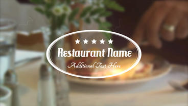 Restaurant Title stock footage