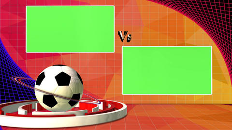 Football News Club Competition Broadcast Television Green Screen VS Logo Footage