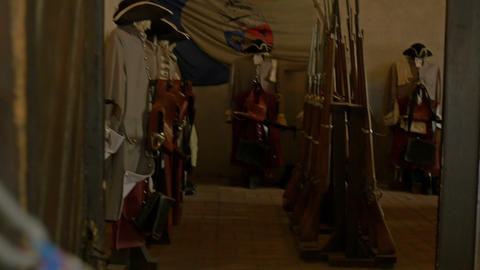Swords And Arms Room stock footage