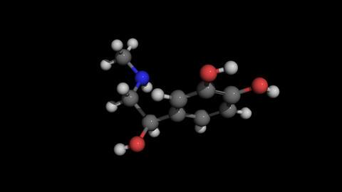 adrenaline molecule model rotating CG動画素材