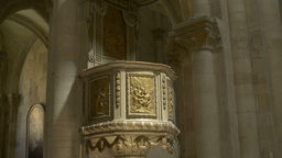 Gothic Church Pulpit stock footage