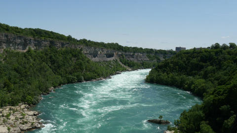 Niagara River View From Aero Car stock footage