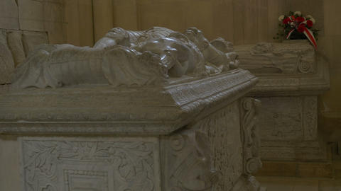 Medieval Sarcophagus in Tomb Live Action