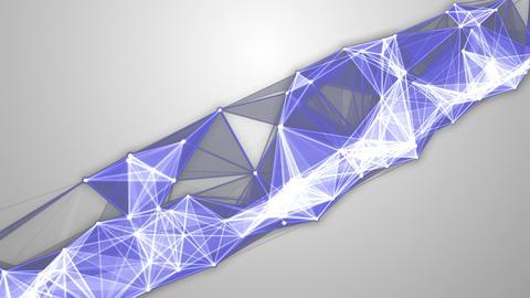 Blue White Molecular Background Diagonal Animation