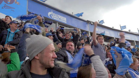 Happy fans celebrating the goal Footage