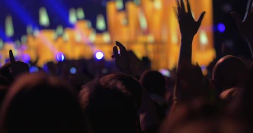 People Enjoying the Music on the Concert GIF 動畫