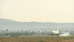 Aircraft Landing at Majorca Airport Live Action