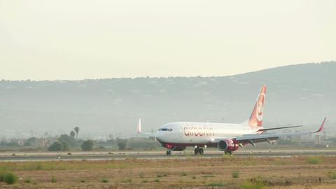 Passenger Airplane Landing at Majorca Airport 4k Footage
