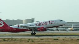 Airplane Turbojet Taking Off at Majorca Airport Footage