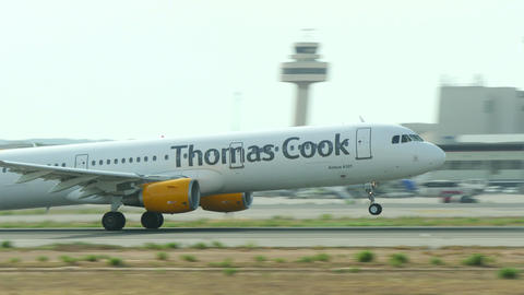 Airbus A321 Taking Off at Majorca Airport 4k Footage