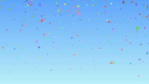 Confetti color BG Blue Sky Animation