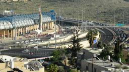 Chaos around the Teddy Stadium in Jerusalem, Israel Footage