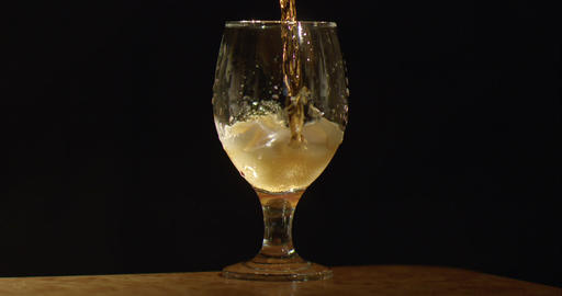 Slowly pour liquid into a glass Footage