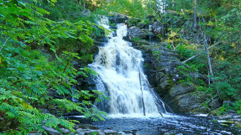 Yukankoski waterfall on river Kulismayoki, Karelia Footage