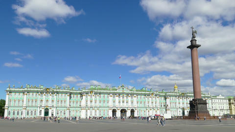 Hermitage and Palace Square - timelapse Footage