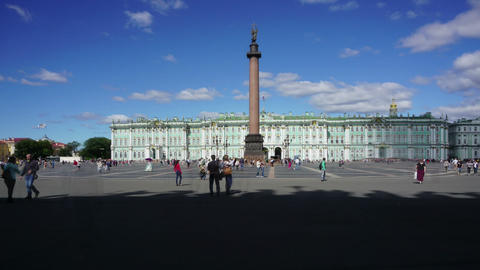 Hermitage and Palace Square - hyperlapse Footage