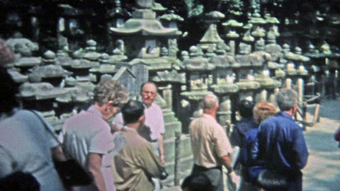 1973: Seniors touring southeast Asian ancient temple ruins Footage