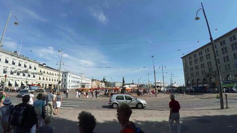 Helsinki. Sights. City streets. Finland. 4K Footage