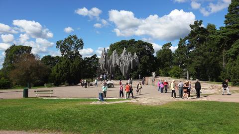 Jan Sibelius monument in Helsinki. Organ. 4K Footage