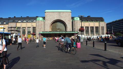 Railway Station In Helsinki. 4K stock footage