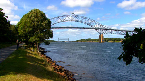 Cape Cod Canal; bridges 3 Footage