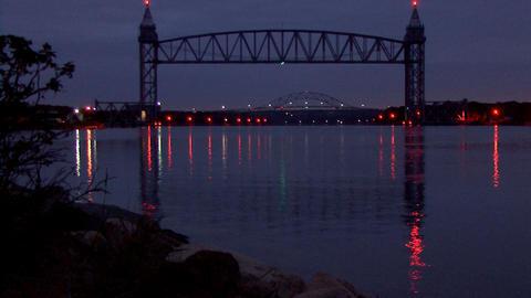Morning Bridge stock footage