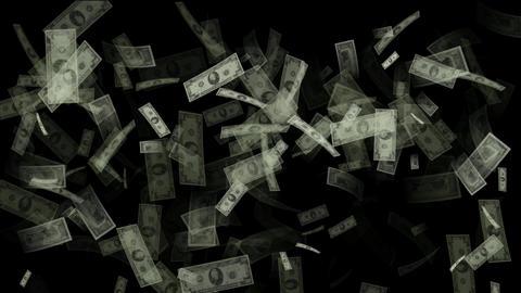 Falling Money stock footage