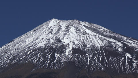 close-up of Mt.Fuji Footage