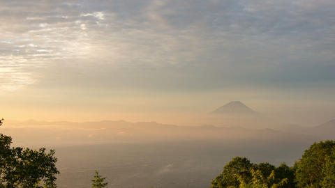Mt'Fuji and cloud time lapse in the early morning Footage
