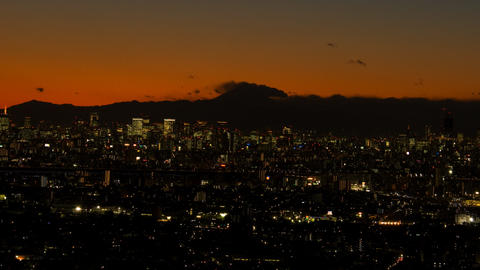 Tokyo nightscape time lapse at dusk Toyko,Japan Footage