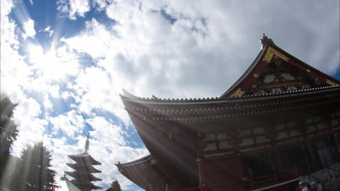 Sensoji Temple in Tokyo, Japan, Asakusa Kannon Temple time lapse Footage