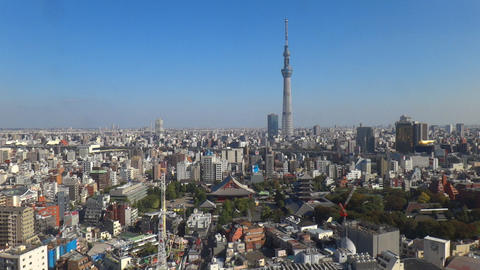 Tokyo Skytree and sensoji-temple time lapse Footage