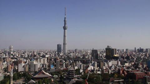 Tokyo Skytree and sensoji-temple Footage