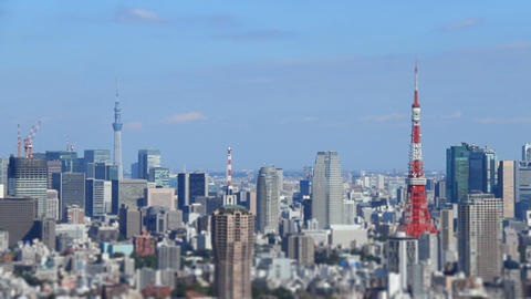 Tokyo Tower and Tokyo Skytree from Japan Footage