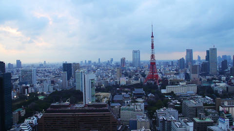 Tokyo Skytree Light up and led lights drift on sumida… Stock Video Footage
