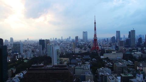 Tokyo Skytree Light up and led lights drift on sumida... Stock Video Footage