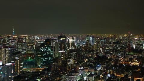 Tokyo skyline at night time lapse Tokyo, Japan Footage